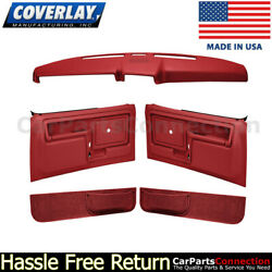 Coverlay Dash Cover Door Panel Kit Red 12-108cl-rd Power Lock Manual Window Only