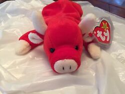 Rare Retired 1995 Snort Beanie Baby Collectors Item 100 Real Collectible