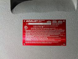 Adalet Xce-161608-n4 Explosion-proof Control Enclosure With Bp And Hinges New