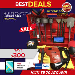 Hilti Te 70-atc Avr Hammer Drill Preowned Free Tabletbits Extras Quick Ship