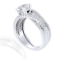 1.49 Ct Simulated Ideal Round Cut Twist Shank Engagement Ring 14k White Gold