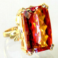 Twilight Fire Topaz Solid 10ky Or 14ky Gold Ladies Ring R039-handmade