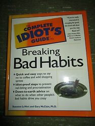 Vintage 1998 Idiots Guide To Breaking Bad Habits 9.5x7.5 308 Pgs 318a