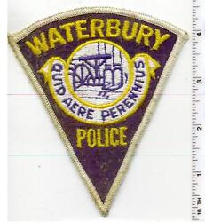 Waterbury Police Connecticut 1st Issue Uniform Take-off Shoulder Patch