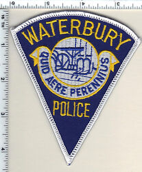 Waterbury Police Connecticut Shoulder Patch - New From 1990