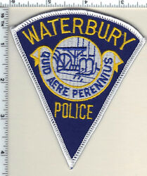 Waterbury Police Connecticut Shoulder Patch - New From 1992