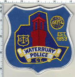 Waterbury Police Connecticut Shoulder Patch - New Style From 1992