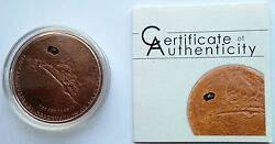 Cook Islands 2009 Mars Meteorite 400th Anniversary 5 Silver Coin, Copper Plated