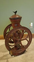 Antique Coffee Grinder Elgin National Coffee Mill Woodruff And Edwards Co 42