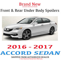Genuine Oem Honda Accord 4dr Front And Rear Under Body Spoiler 16-17 Sport Touring