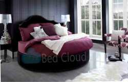Gothic 6ft3 Round Bed With Headboard 190cm In Various Colours And Fabrics