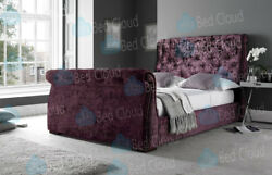 Arizona 5ft Kingsize Chesterfield Sleigh Bed In Various Colours And Fabrics