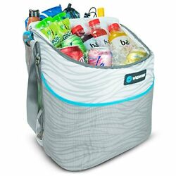 Beach Bag Cooler Tote 24Can Easy Access Insulated Side External Mesh Pocket