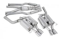 Megan Racing 3 Catback Exhaust Quad Stainless Tips Oe-rs For 05-10 Bmw E60 M5