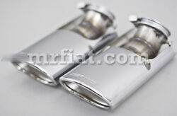 Mercedes C-class Genuine Amg W203 C320 C240 C230 Tail Pipe Cover Set New