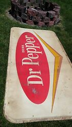 Large Vintage Dr Pepper 6ft By 3ft Made In Usa G-18