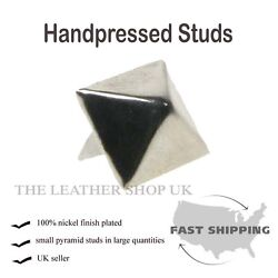 1/2 New Silver Pyramid Clothing Leather Craft Accessory Punk Rock Metal Studs