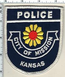 City Of Mission Police Kansas Uniform Take-off Patch From The 1980's