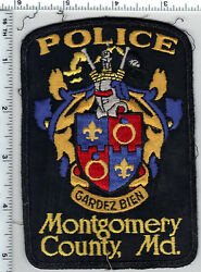 Montgomery County Police Maryland Uniform Take-off Shoulder Patch From 1980's