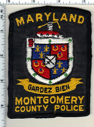 Montgomery County Police Maryland Uniform Take-off Shoulder Patch From 1970's