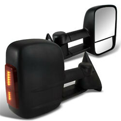 Led Signal Manual Towing Tow Hauling Mirror For Chevy C/k Pair 1500/2500/3500