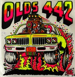 Last1 Vtg 70s Oldsmobile Olds 442 Big Daddy Roth Bdr Muscle Car T-shirt Iron On