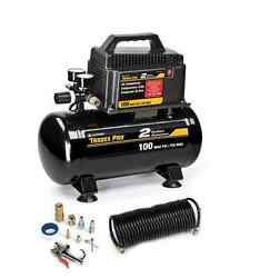 NEw 2 Gallon 40 PSI Portable Air Compressor Oil-Free With Accessories Inflator