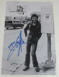 Bruce Springsteen Signed 12x18 Photo Authentic Autograph Born To Run Beckett Loa