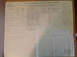 An Original Register Of Southern Cross Of Honor Recipients From South Carolina