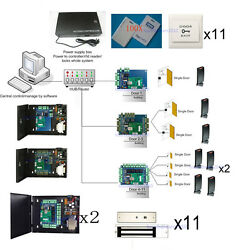 H10301 Card 11 Doors Wiegand  Access Control Gates EM Lcok 110V Power Supply Box