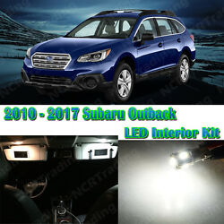 10x Super White Interior LED Lights Package Kit for  Subaru Outback + Gift