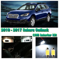 10 x White COB Interior Package Kit For 2010 - 2016 2017  Subaru Outback + Gift