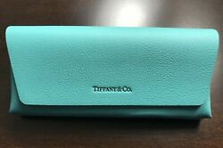 Brand New Authentic- Eyeglass-sunglass Leather Case With Cleaning Cloth
