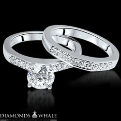 Vs1/f 0.87 Tc Engagement Diamond Ring Solitaire With Accent Enhanced Round Cut