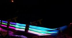 22-26and039 Pontoon Boat Multi-color Rgb Under Deck Led Lights With Mounting Tracks