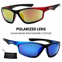 Xloop Polarized Clear Color Small Face Frame Outdoor Sports Wrap Sunglasses $9.95