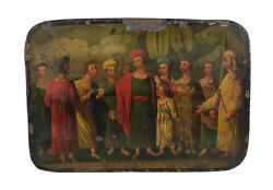 Continental Hand Painted Enamel On Metal, Ot, Joseph And Brothers 18th Century