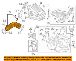 HONDA OEM 03-04 Accord Air Cleaner Intake-Duct Hose Tube 17228RAAA00