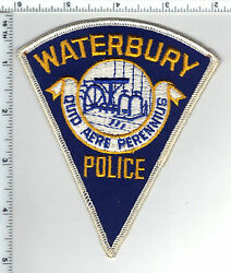 Waterbury Police Connecticut Shoulder Patch - New From The Early 1980's