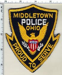 Middletown Police Ohio Uniform Take-off Shoulder Patch With Rocker From 1980's