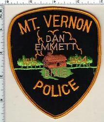 Mt. Vernon Police Ohio Shoulder Patch From 1991