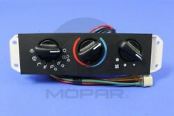 AC and Heater Control Switch MOPAR 55037612AA fits 02-04 Jeep Wrangler 4.0L-L6