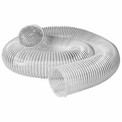 Clear Dust Collection Hose 4in 20ft Vacuum Cleaner Ventilation Flexible Pvc Tube
