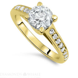 1.28 Tc Solitaire With Accent Bridal Diamond Ring Vs1/d Engagement Ring Enhanced