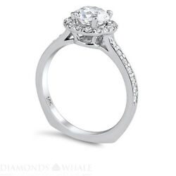 Wedding Round Enhanced Diamond Ring Solitaire Accents Vs1/d 1.51 Tcw White Gold