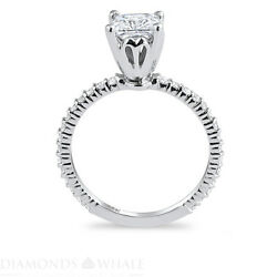 1.39 Tcw Solitaire With Accent Princess Diamond Ring Vs2/f Engagement Enhanced