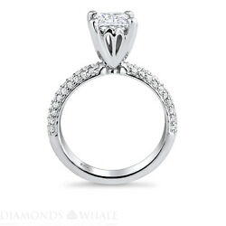 Solitaire With Accent 1.54 Tcw Diamond Enhanced Ring White Gold Princess Si1/d