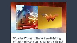 The Art Of Wonder Woman Signed X7 Gal Gadot Limited Edition Slipcased Hc Artists