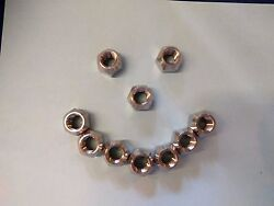 10 Stainless Steel Lug Nuts 1/2-20 S/s 13/16 For Boat Trailers