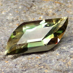Peacock Green Schiller Oregon Sunstone 7.48ct Flawless-for High-end Jewelry-rare